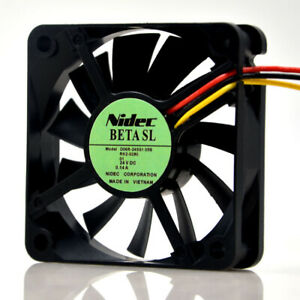 1pcs Used Nidec 6015 6CM 24V 0.14A D06R-24SS1 05B 3-Wire Silent Inverter Fan