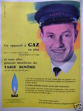 PUBLICITÉ 1959 UN APPAREIL A GAZ EN PLUS BÉNÉFICIER TARIF BINÔME - ADVERTISING