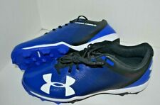 NEW  BLUE Under Armour Molded Baseball  Cleats Low Cut      Size 13