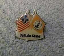 Vintage Buffalo State US & College At Buffalo Flags Lapel Pin