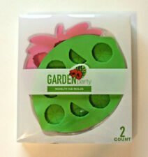 ICE CUBE MOLDS Set Strawberry & Lime Shaped Ice Cube Trays ~ NEW in Package!