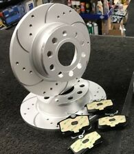AUDI TT 1.8T QUATTRO 225 HP REAR DRILLED CURVED GROOVED BRAKE DISCS BRAKE PADS