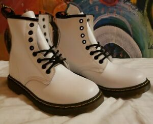 Dr. Martens white boots womens US 9