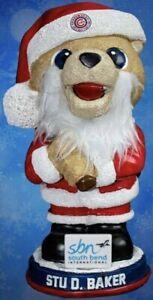 Stu D. Baker Christmas Santa Gnome South Bend Cubs Mascot SGA 7/24 Chicago