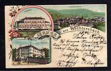 109637 AK Wächtersbach Litho 1897 Bahnhof Schloss Panorama