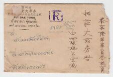 THAILAND SIAM. Rama VIII values, rare SIKIU registered cover + letter