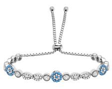 AQILA Damen Armband Infinity Unendlichkeit Türkis Zirkonia 925 Silber