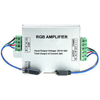 DC 12V 12A/24A Data Repeater RGB Signal Amplifier For 3528 5050 LED Strip Light