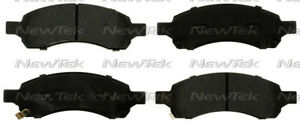 Disc Brake Pad Set-Galaxy Ceramic Disc Pads with hardware Front NewTek SCD1169H