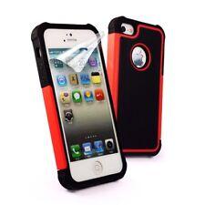 Tuff-Luv Tri Shield Tasche Cover Case Etui Hülle Rot für Apple iPhone 5/5s