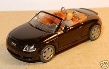 MICRO WIKING HO 1/87 AUDI TT ROADSTER NOIRE + PERSONNAGE CONDUCTEUR NO BOX