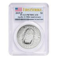 Sale Price - 2019 P Apollo 11 50th Anniversary Proof Silver Dollar PCGS PF 70 FS