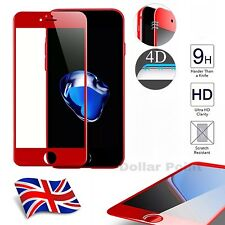 Red 4D Full Curved Edge To Edge 3D Tempered Glass For Apple iPhone 7