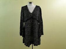 WAYF Women Pembrook Swing Dress 9731WCH  /Black /X Small.