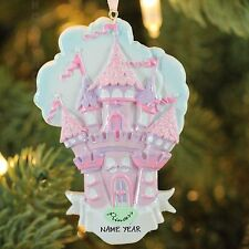 Kurt Adler Princess Castle Personalized Christmas Tree Ornament NEW