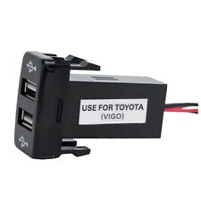 Double Port USB Car Socket Lighter Charger Adapter 12V-24V For Toyota VIGO