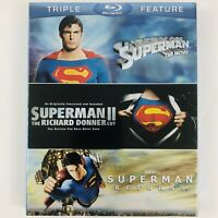 Superman Triple Feature Collection w/ Slipcover (Blu-ray Disc, 2012) 1 2 Returns