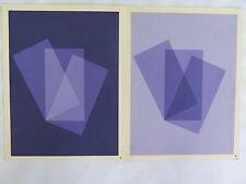 Josef Albers Original Silkscreen Folder X-1 Interaction of Color 1963