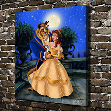Oil Painting HD Print Wall Decor Art on Canvas Disney Beauty and the Beast 12x14