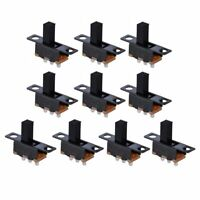 20pcs Black Small SPDT Switch Durable Miniature Slide Toggle Power Electrical