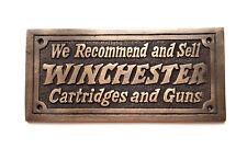 Winchester Cartridges & Guns Solid Brass Plaque