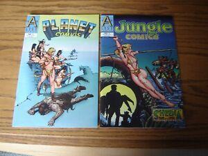 A List Comics RARE Planet Comics #1 & Jungle Comics #1 Cavewoman Good Girl Sexy