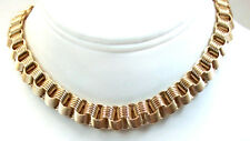 Vintage Fine Fashion  Jewelry 12 kt Gold Filled Necklace Heavy Linked Collar