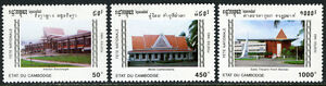 Cambodia 1256-1258,MI 1332-1334,MNH.Natl. Festival.Theater,Motel Cambodiana,1993