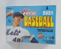 ⚾️🔥201 TOPPS HERITAGE BASEBALL BLASTER BOX-AUTOGRAPH AND RELICS-FACTORY SEAL