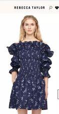 REBECCA TAYLOR Francine Off Cold Shoulder Ruffle Floral Print Dress 10 NWT!