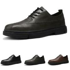 Mens Low Top Leisure Faux Leather Business Shoes Oxfords Round Toe Work Casual L