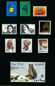Aland Finland 1996 Year set complete including booklet. MNH