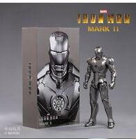"Pre-sale Zd Toys 1:10 Iron Man Mk 2 Mark Ii 7"" 18Cm Soldier Figure Collectible"