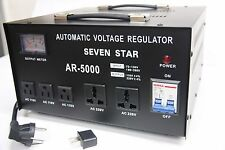 SEVENSTAR AR 5000W Heavy Duty Voltage Regulator Stabilizer with Built In Step