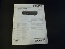 Original Service Manual Sony CDP-797