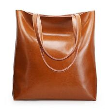 Women Genuine Cowhide Real Leather Shoulder Bag Tote Bags Handbag Shopping Purse