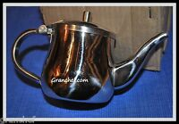 Creamer / Milk Pitcher / Teapot ~ Stainless Steel ~ 10 oz. Long neck Style  NIB
