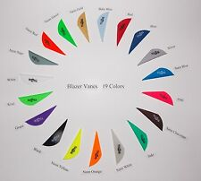 Blazer Arrow Vanes (Bohning)  Mix/Match 17 Colors w/Logo Pkg of 100