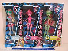 THREE Fun in the Sun Bathing Suit Monster High Dolls Lagoona Draculaura & Venus