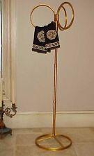 WONDERFUL HOLLYWOOD REGENCY TALL LARGE TOWEL HOLDER ITALIAN GOLD FLORENTINE