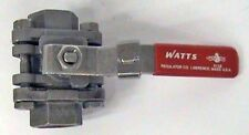 "1/2"" NPT Watts S8500 SS 3 Piece Ball Valve 1000 psi"