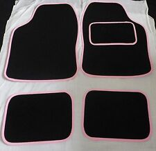 Car Mats Black and Pink trim mats for BMW E30 E36 E46 E39 E87 318i Z1 Z3 M3