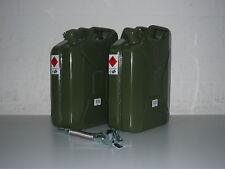 2 x 20 Liter Benzinkanister Metall GGVS mit Sicherungsstift inklus. Auslaufrohr