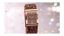 Seksy Sekonda Ladies Crystal Rocks Brown Swarovski Rose Gold 2580 Watch