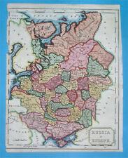 1798 RARE NICE ORIGINAL MAP RUSSIA POLAND UKRAINE LITHUANIA BELARUS MOSCOW KIEV