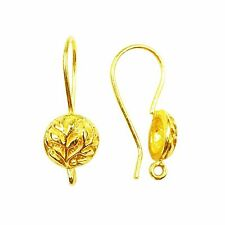 18K Gold Overlay Earwire FG-217