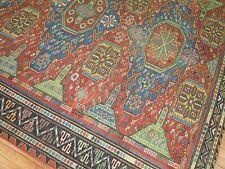 Antique Caucasian Kuba Soumak Sumak Rug Size 7'3''x9'