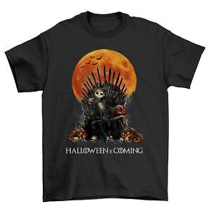Halloween Is Coming Nightmare Game Of Thrones Horror Print  Slogan T-shirt