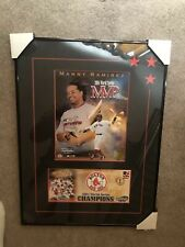 MANNY RAMIREZ RED SOX 2004 WORLD SERIES MVP 12X16 MATTED PHOTO & Framed