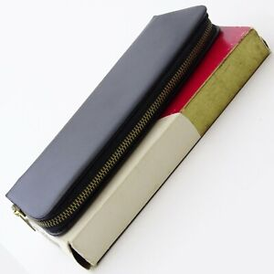 Vintage PELIKAN 2 Pen Black Genuine Leather Case / Etui 1960s MINT